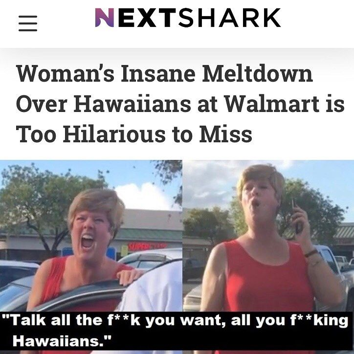 "NextShark on Instagram: ""**SWIPE 👈 TO VIEW VIDEO** . One woman went wild with anger at a Walmart parking lot in Hilo, Hawaii as employees tried to get her to move…"""