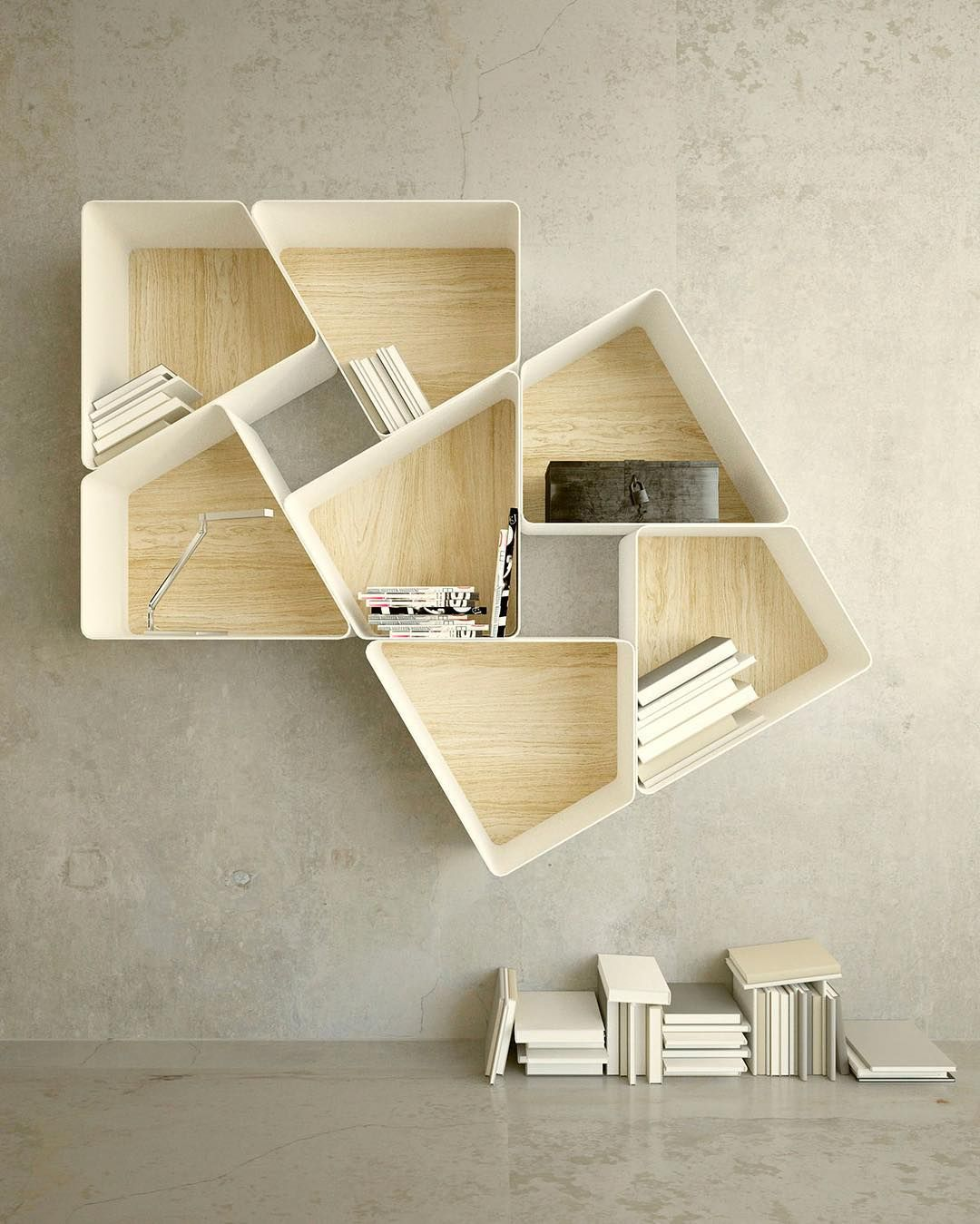 Creative Bookcase by Kambiam | inspiration design | Pinterest