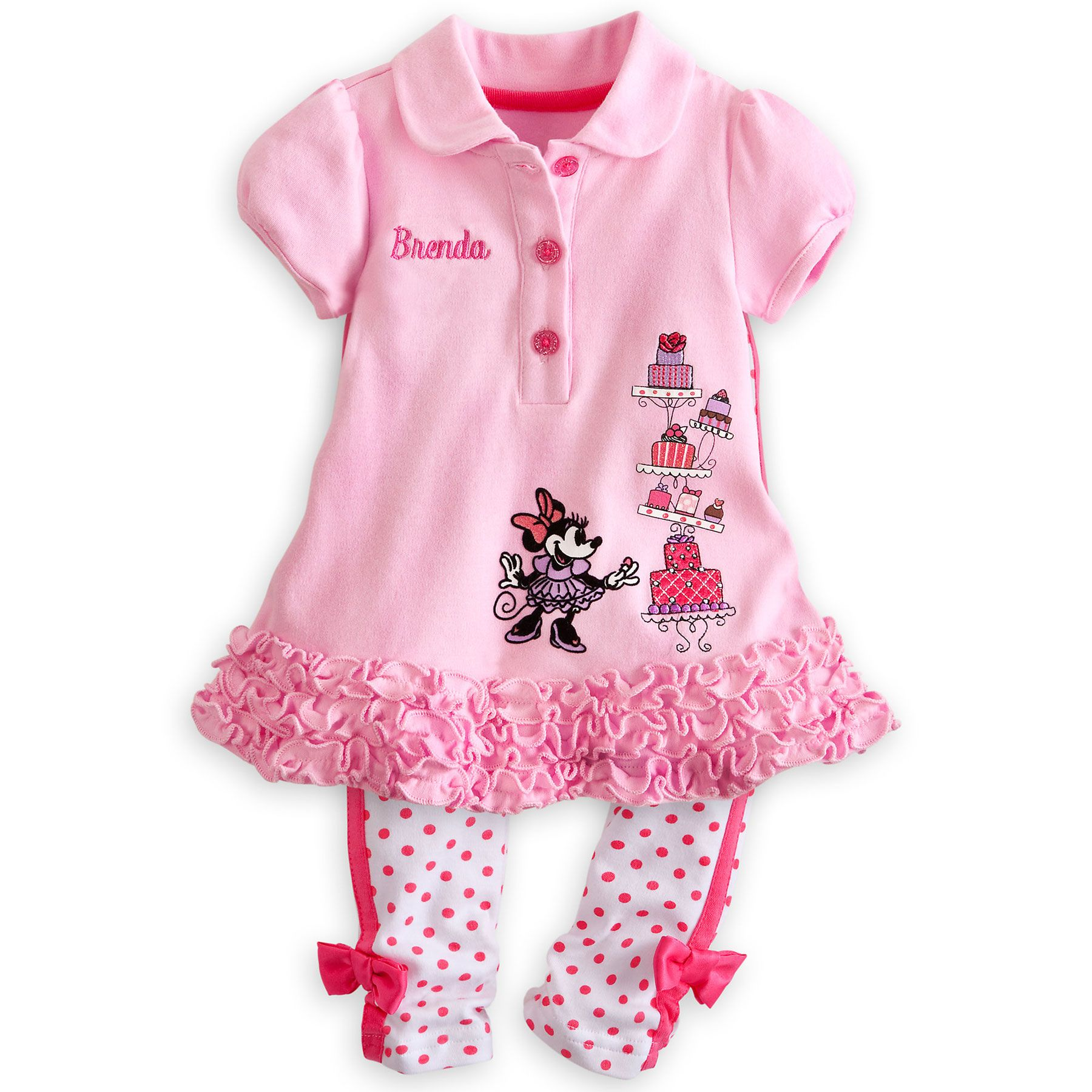 Minnie Mouse Polo Dress and Leggings Set for Baby Personalizable