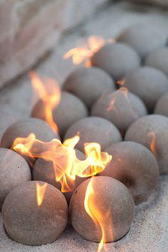 Concrete Fire Balls Google Search Fire Pit Decor Backyard Fire Concrete Fire Pits