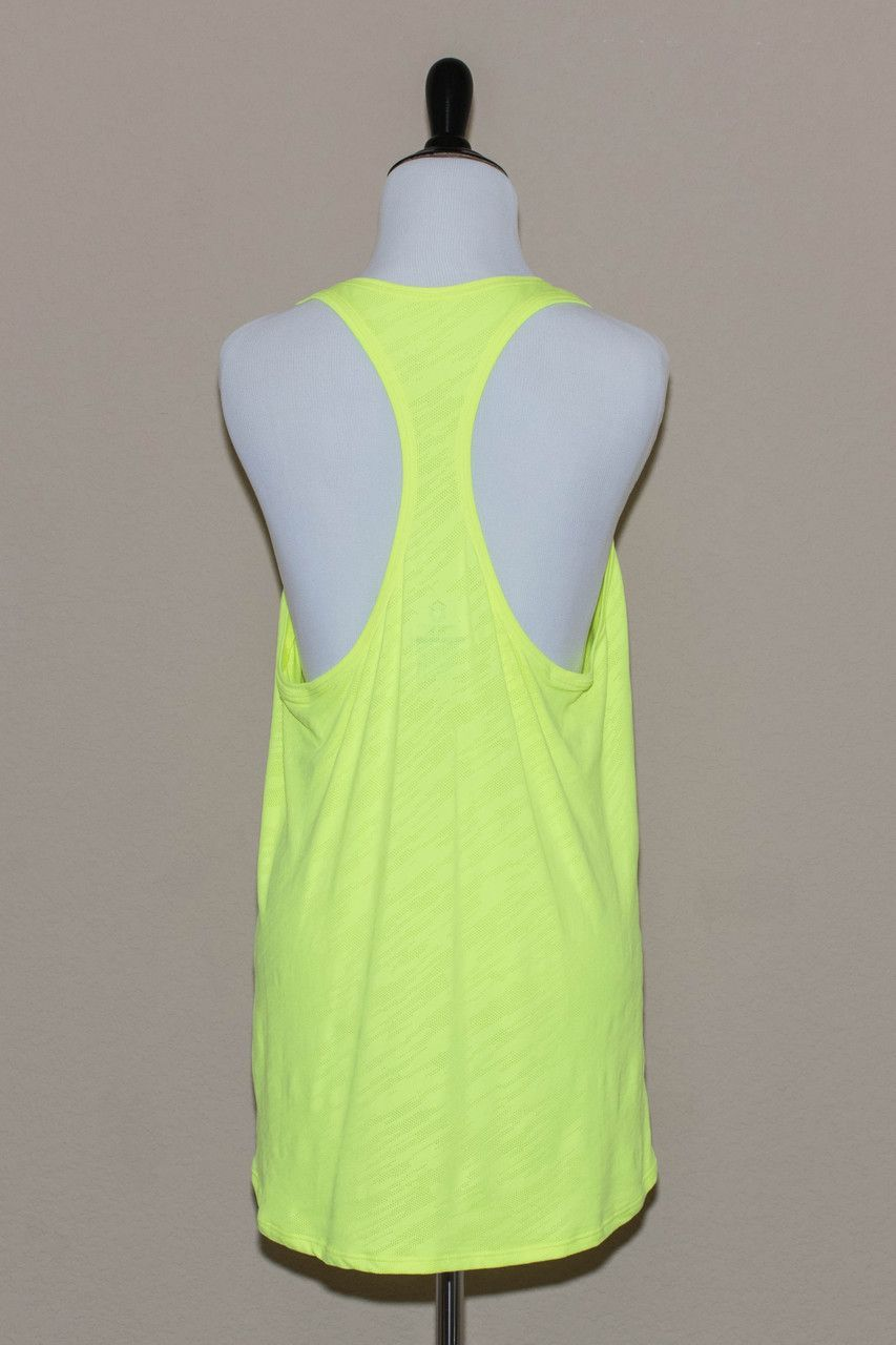 Relaxed Racerback Athletic Top - Neon Yellow
