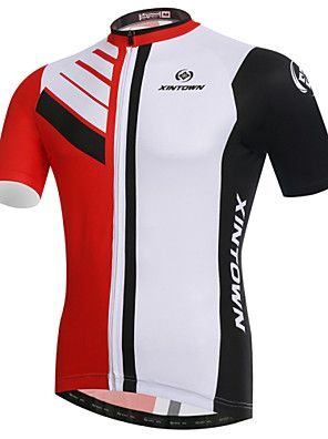 8e3850344 XINTOWN Bike Cycling Jersey   Tops Men s Short Sleeve Breathable    Ultraviolet…