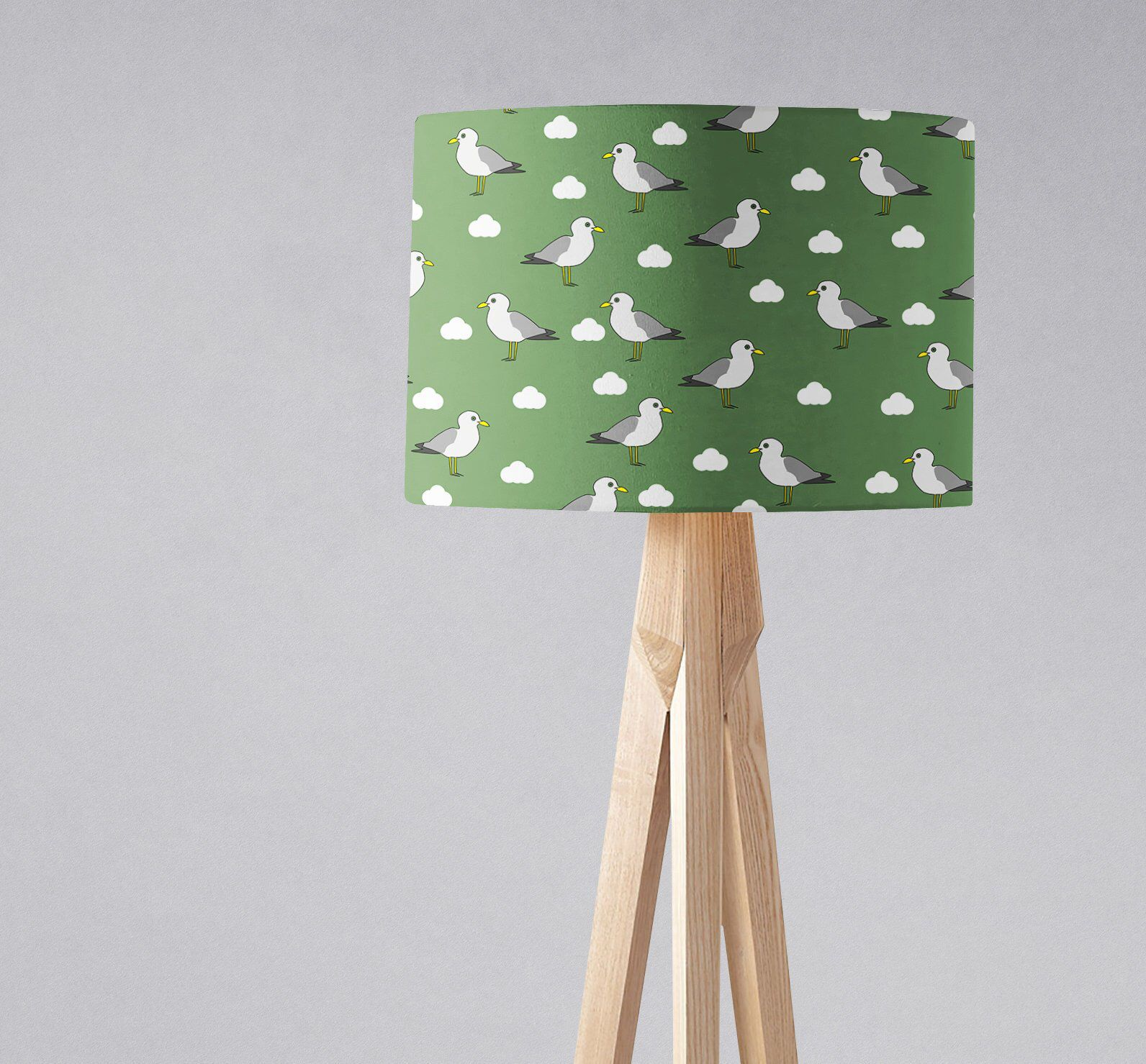 Seagull Lampshade Green Nautical Beach Decor Seaside Gifts