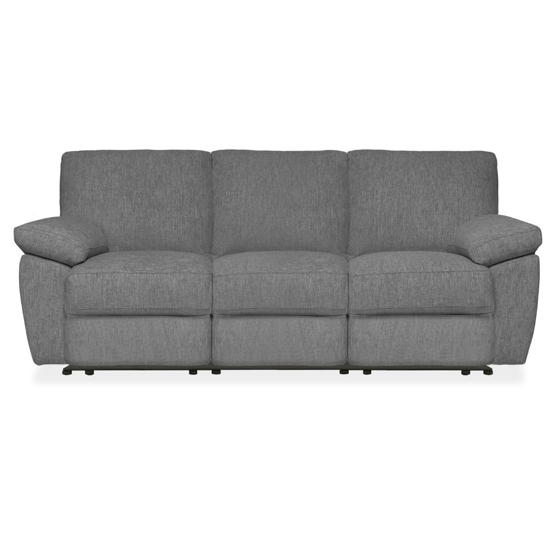 Lucas 3 Seat Fabric Recliner Sofa Grey Reclining Sofa Manual Recliner Sofa Grey Reclining Sofa