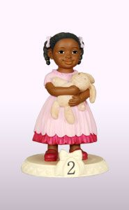 "Ebony Birthday Girl Age 2 Product Description Figurine Dimension: 4½""H"