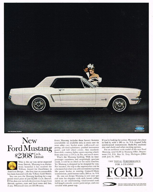 1964 1 2 Ford Mustang Adver This Was My First New Car I 18