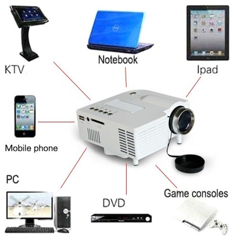 Mini Multimedia Projector Home Cinema Theater For PC/Laptop