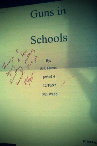 essay by eric harris tidy evidence of premeditation the essay by eric harris tidy evidence of premeditation the teacher grading it