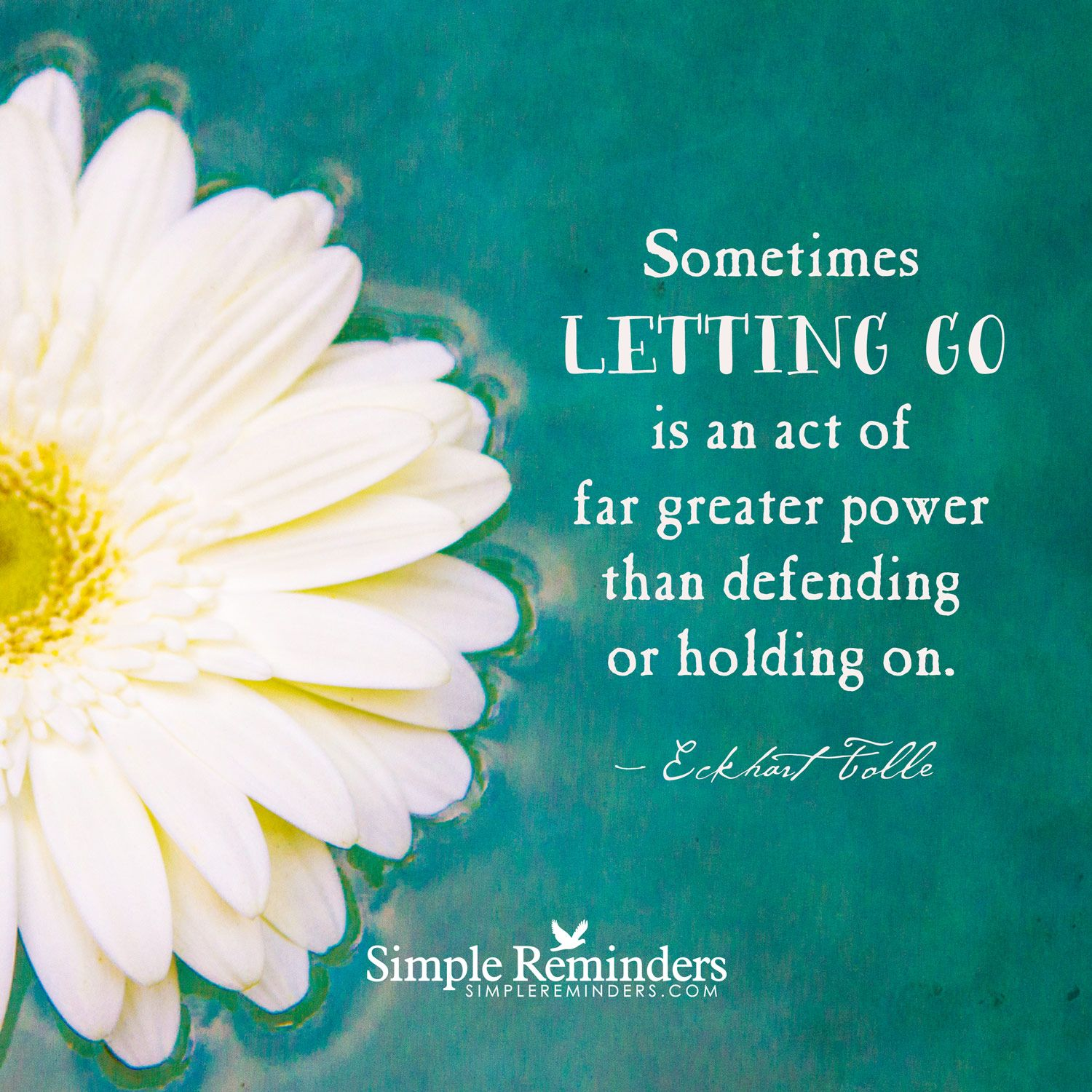 Letting go is powerful Sometimes letting go is an act of far greater power than defending or holding on. — Eckhart Tolle and article by Dr. Charles Glassman, MD., Medical Doctor, Internationally Acclaimed Health Expert and Coach. Letting Go of the Past. Holding on to negative feelings and past circumstances is like placing a lock on your soul. — Charles Glassman This quote...