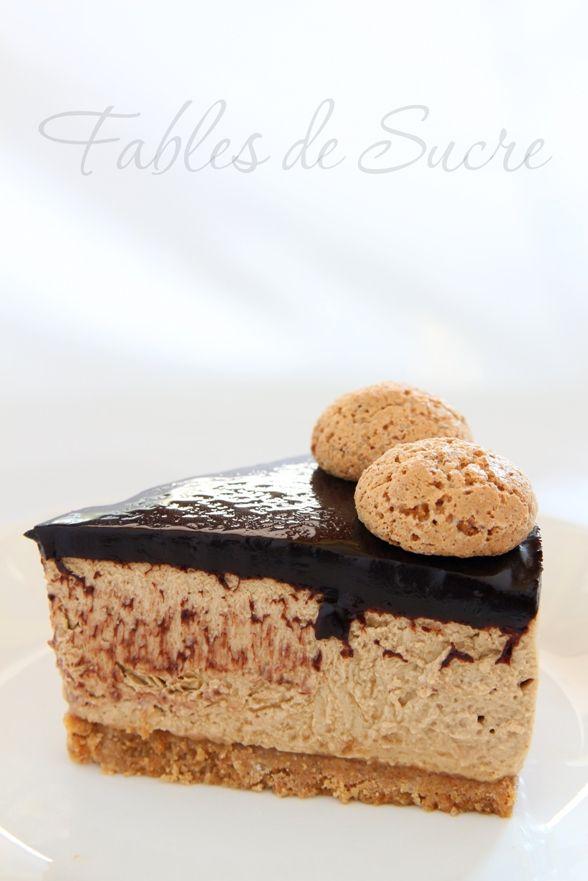 Cheesecake al caffè e amaretti is part of Cheesecake - La cheesecake al caffè e amaretti è un dolce dall'intenso profumo e dalle consistenze davvero gradevoli, in un mix di gusto sapori ed estetica accattivanti