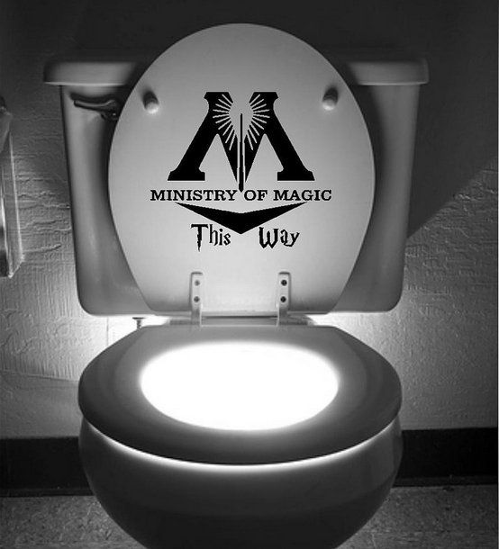ministry of magic way inspired toilet sticker funny toilet restroom decals H JB