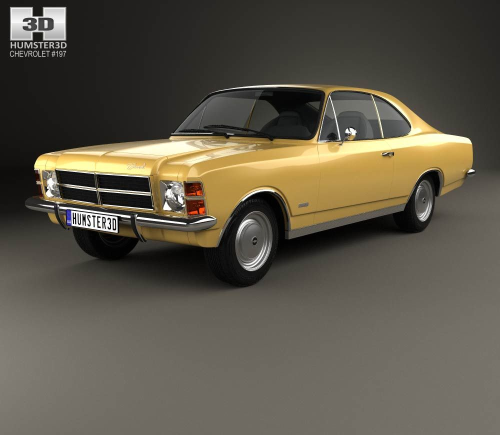 3d Model Of Chevrolet Opala Coupe 1978 Chevrolet Coupe Model