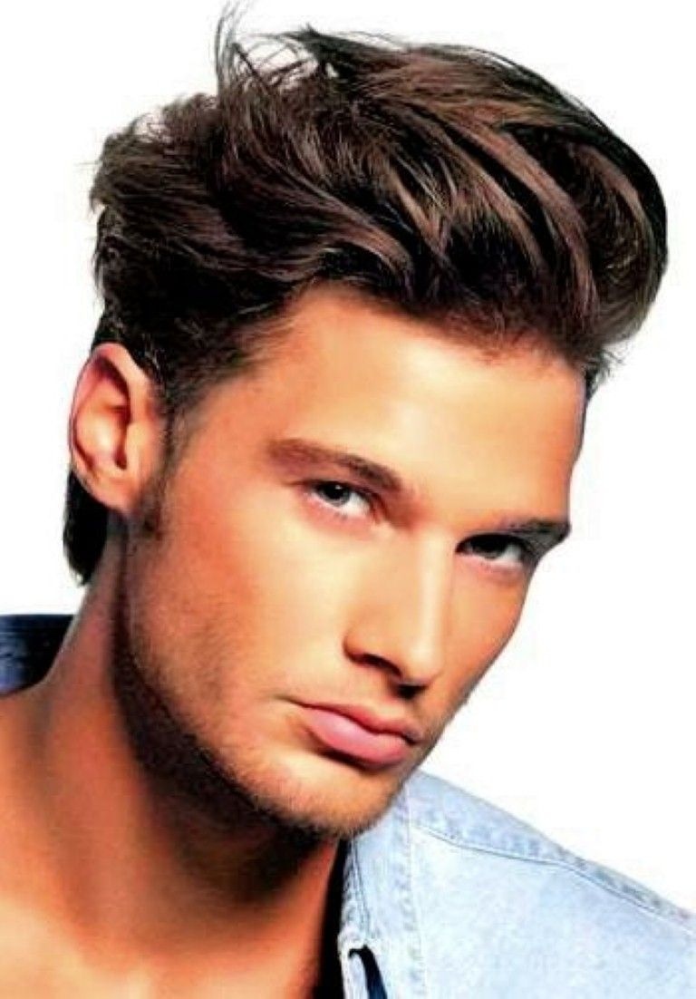 men. hairstyles for medium straight hair men: short boyish thick
