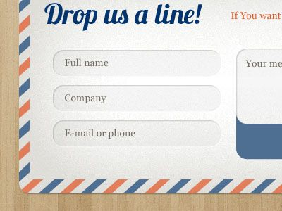 50 Examples of Creative Contact and Web Form Designs Form design - copy blueprint network design