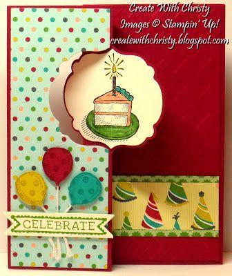 Stampin' Up! Sketched Birthday Flip-Flop Card - Label Card Thinlits Die - Christy Fulk, Stampin' Up! Demo: