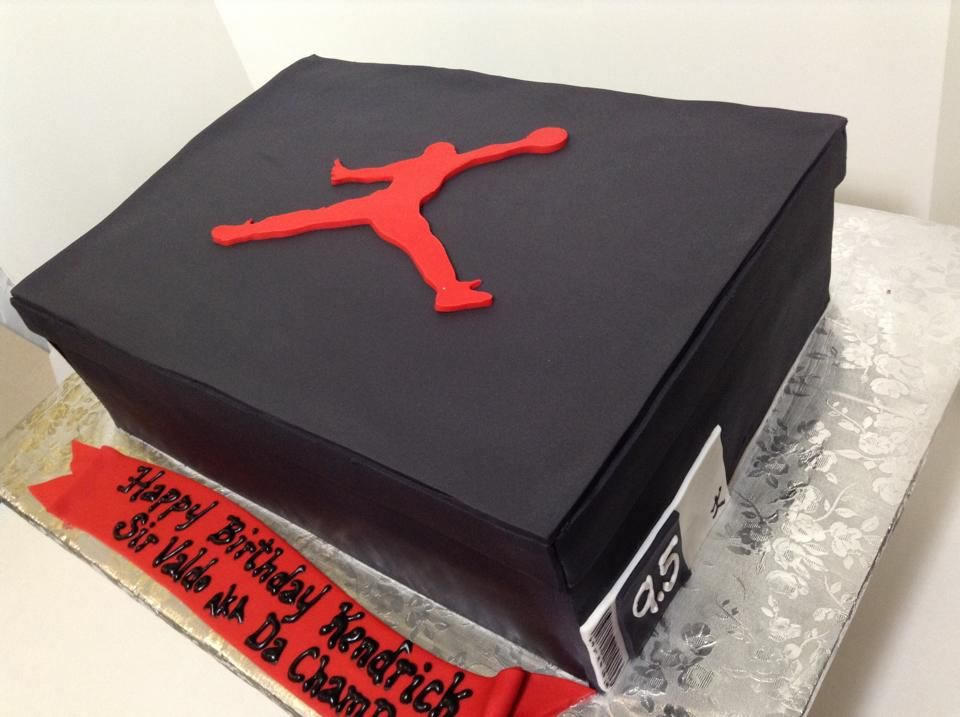 michael jordan shoe box cake