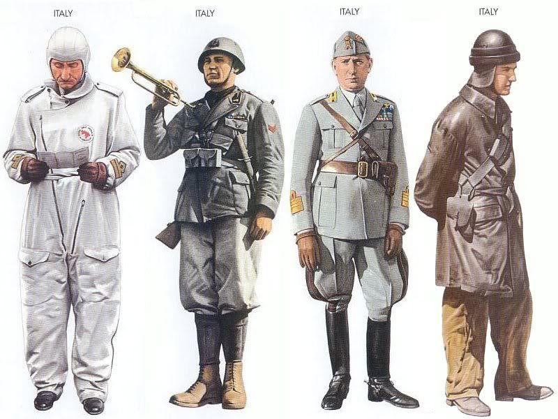 World war ii uniforms italy 1940 june libya major - French div 2 ...