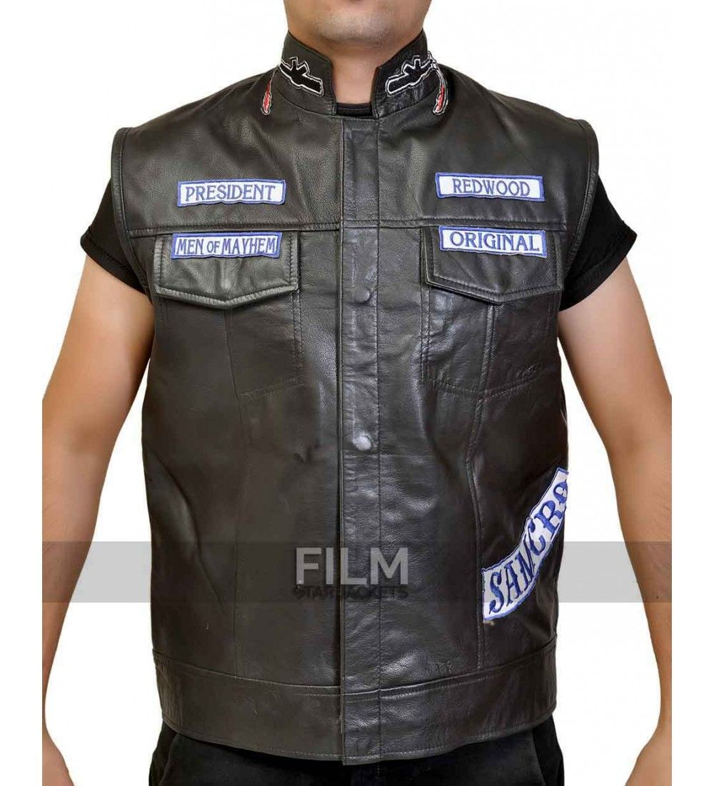 Sons Of Anarchy Jax Teller Biker Vest With Patches Sons Of Anarchy Vest Sons Of Anarchy Biker Vest