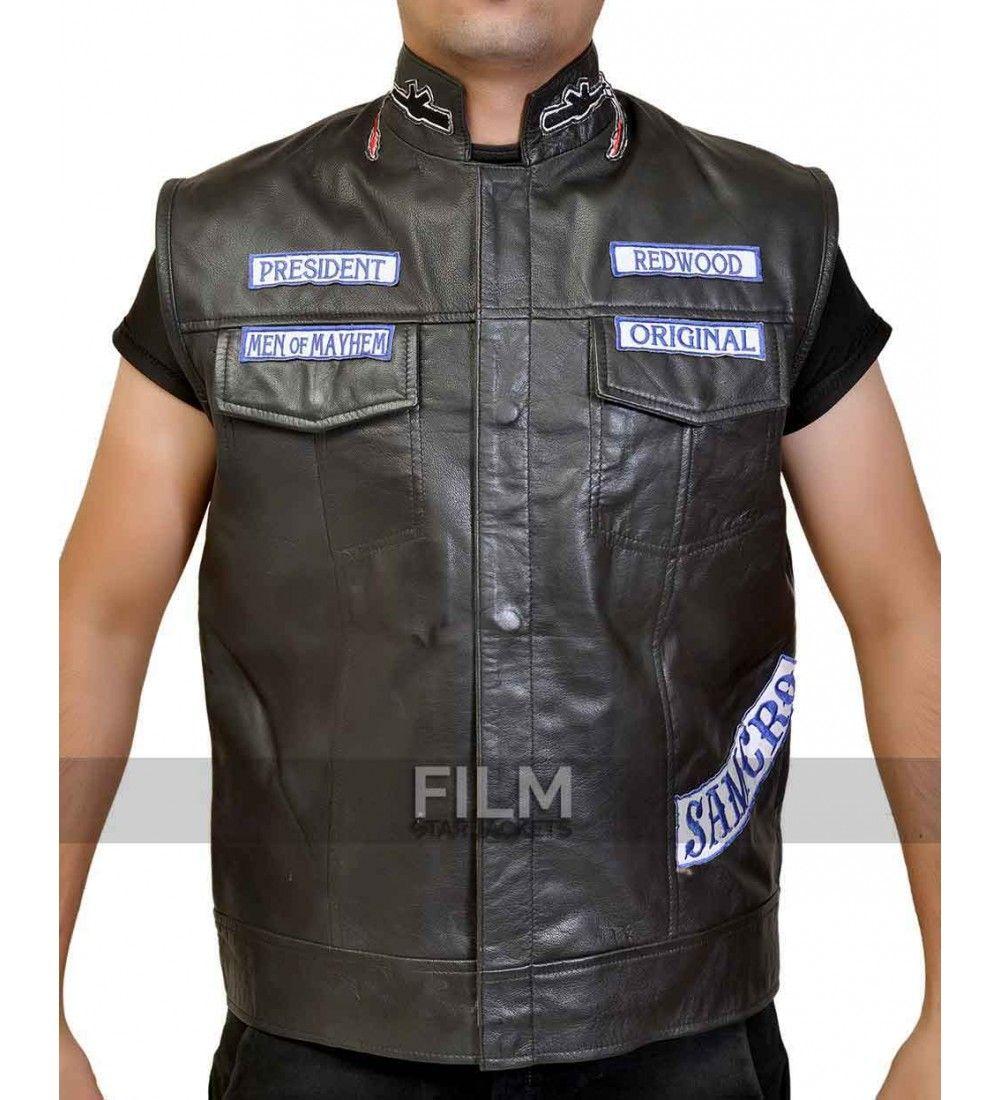 Sons Of Anarchy Jax Teller Biker Vest With Patches Sons Of Anarchy Vest Biker Vest Jax Teller