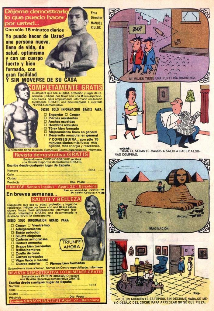 Sanson Institud 1980- Anuncios en el interior de los Tebeos