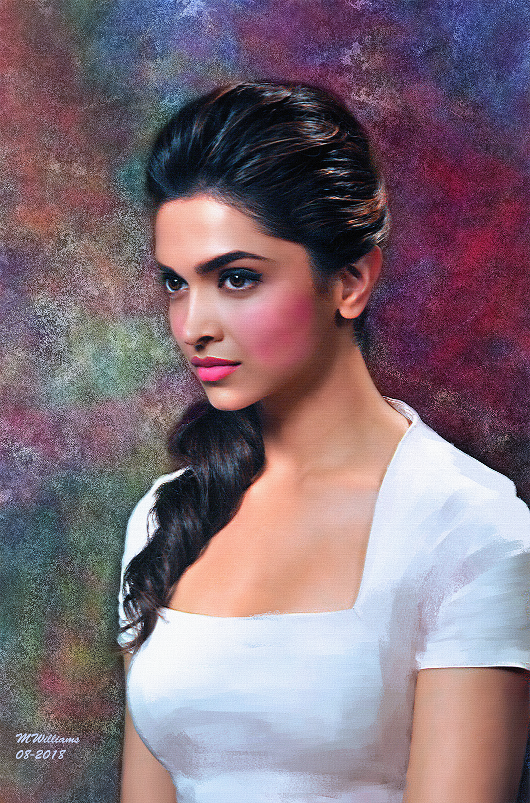 Stunning! Female art painting, Beautiful girl sketch