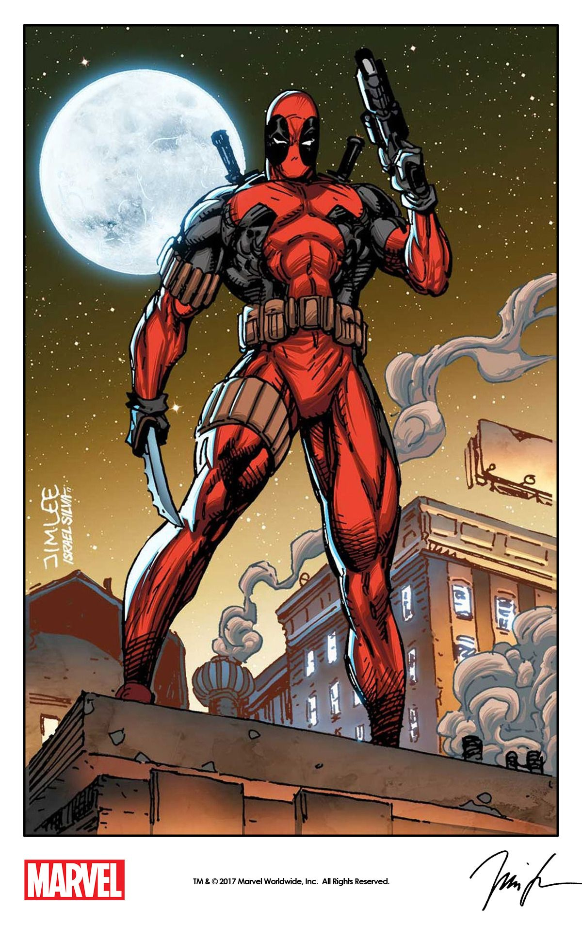 Deapool By Jim Lee From Impel S X Men Trading Card Series 1992 Remastered With Digital Colors By Israel Silva A Deadpool Comic Jim Lee Marvel Comics Deadpool