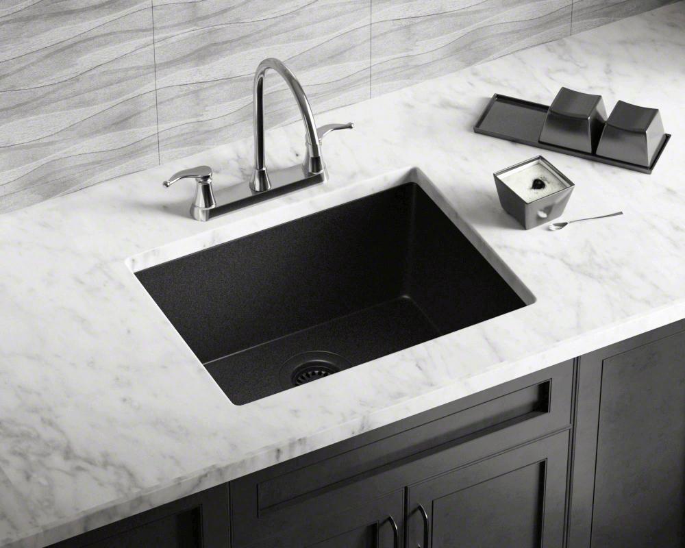 808 Black Single Bowl Kitchen Sink Black Kitchen Sink Kitchen Sink