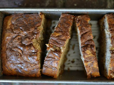 Swirls upon swirls of Nutella make this banana bread almost too pretty to eat.  Get the recipe at Bakeaholic Mama.