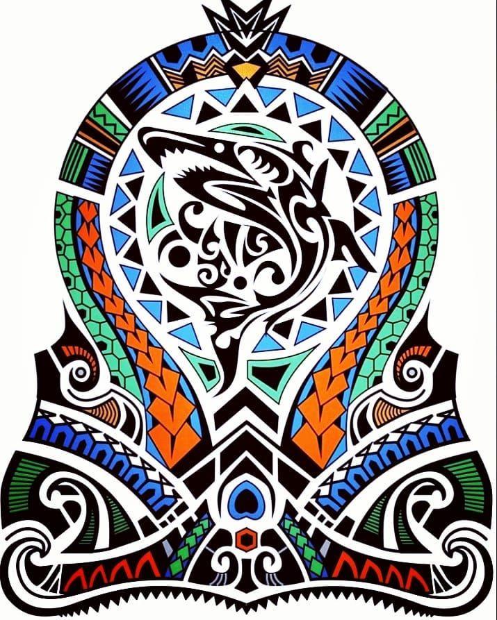 100 Colored Polynesian Maori Half Sleeve Tattoo Design Designer Andrija Proti Half Sleeve Tattoos Designs Half Sleeve Tattoos Drawings Half Sleeve Tattoo