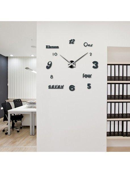 3D ceas de perete color la camera de zi - IRIS, culoare gri metalic - wanduhren wohnzimmer modern