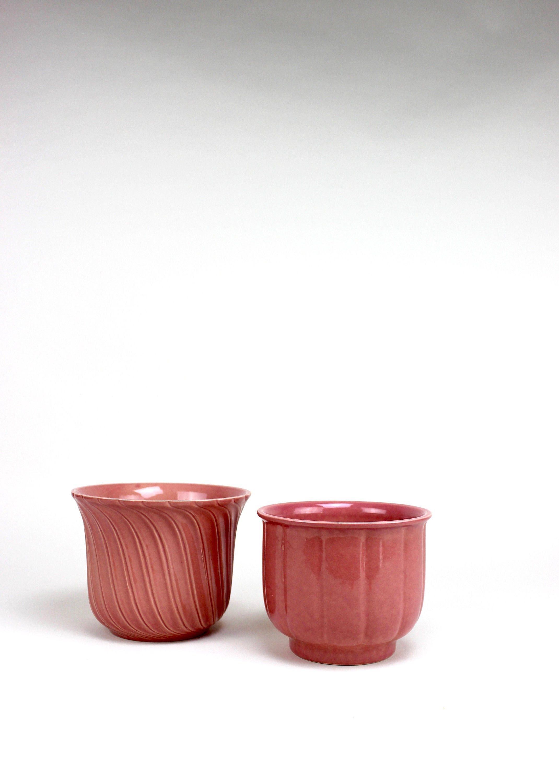 Mid Century Blumentopf 2er Set Sondgen Keramik Vintage Ubertopf Keramiktopf Keramik Urban Jungle Rosa Planter 60s Blumentopf Ubertopf Keramik