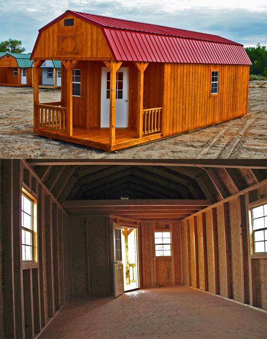 You Can Transform This Deluxe Lofted Barn Cabin Into A Man Cave