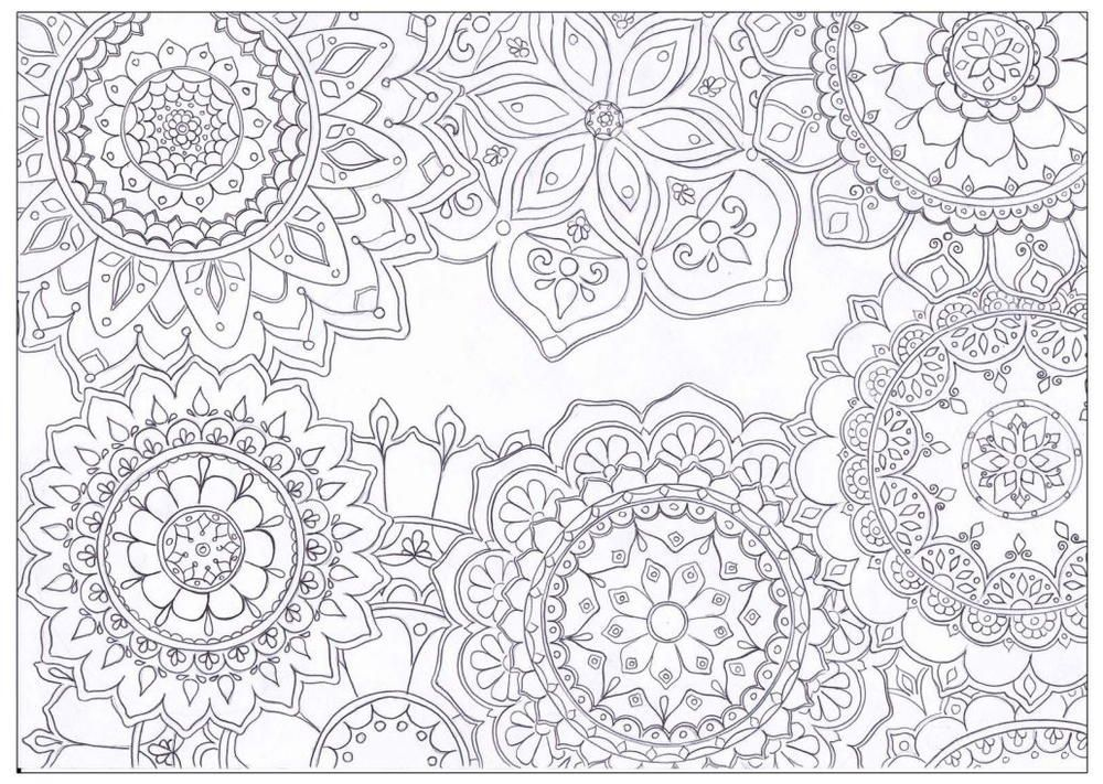 Mandala Flowers Coloring Page | Makey paper/cards | Adult ...