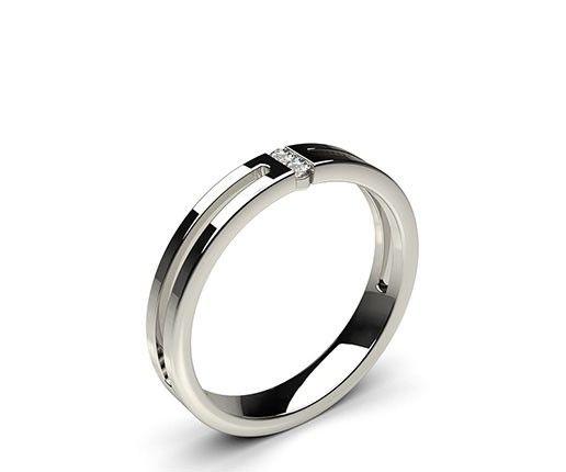 3.20mm Studded Flat Profile Comfort Fit Diamond Wedding Band