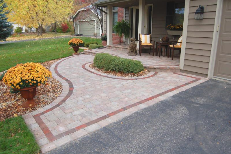 Garden Pavers Ideas best 25 garden pavers ideas on pinterest Front Brick Paver Patterns Willow Creek Paver Entry Designed With An Expanded Stoop In Eagan