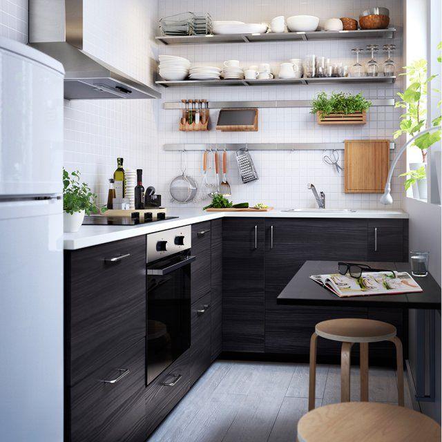 10 coins repas adapt s aux petits espaces pinterest tablette murale espaces confin s et. Black Bedroom Furniture Sets. Home Design Ideas