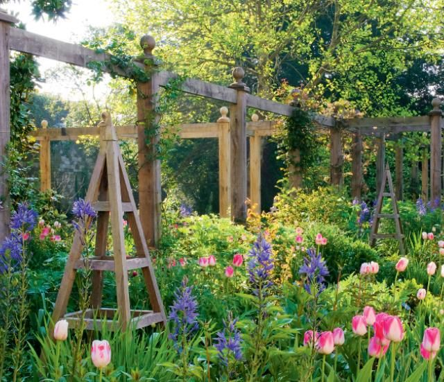English Garden Design feature clock English Gardens Gardening On The Golden Isles Wedding Flowers
