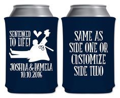 Wedding Can Coolers Police Wedding Favors Personalized Wedding Etsy The Office Wedding Cop Wedding Police Wedding