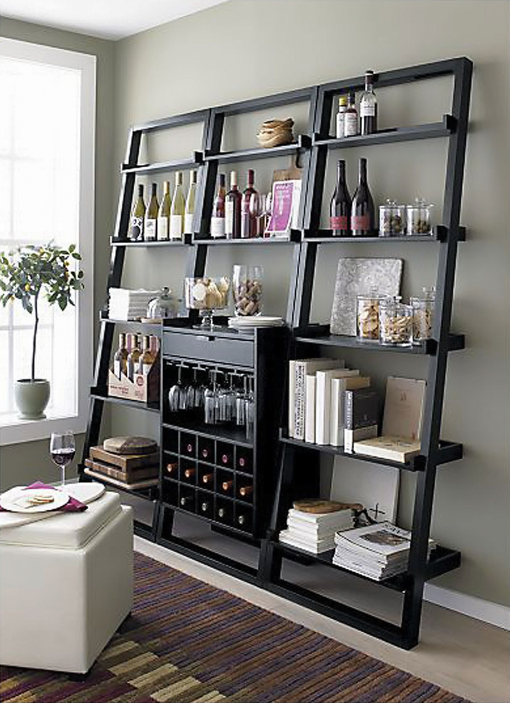 A Book Case And Wine Bar In One 3 Two Of My Favs In One Bookcase Bar Home Decor Home #wine #rack #in #living #room