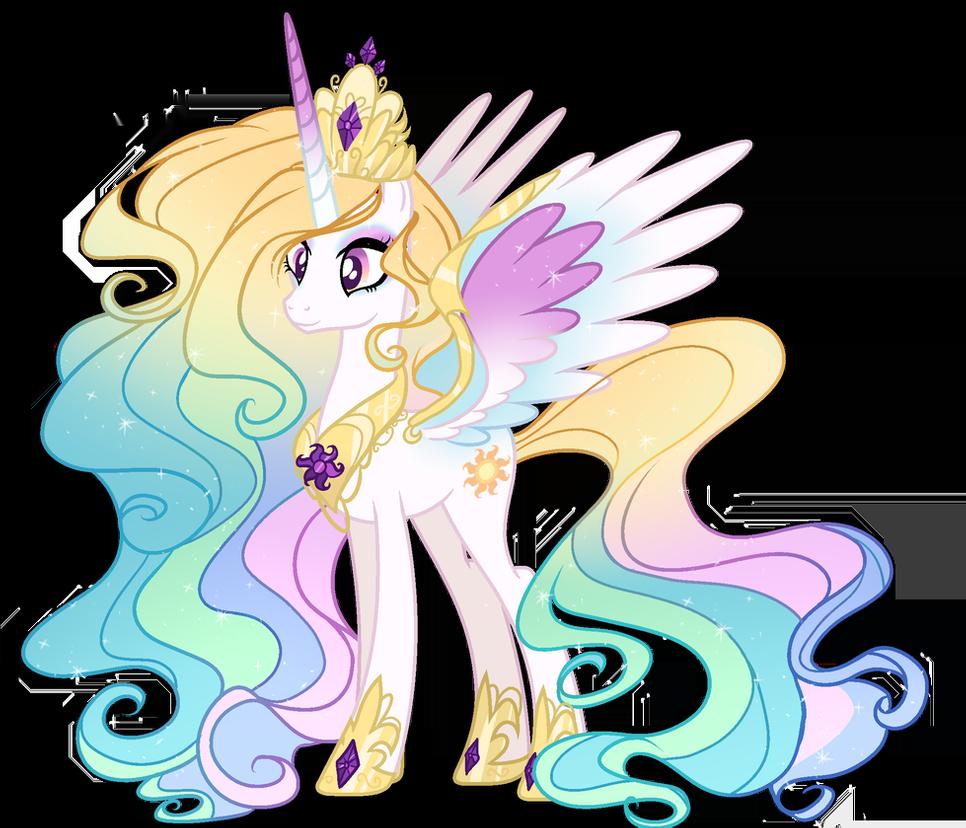 Mld Princess Celestia Next Gen By Gihhbloonde On Deviantart My Little Pony Wallpaper My Little Pony Drawing My Little Pony Comic