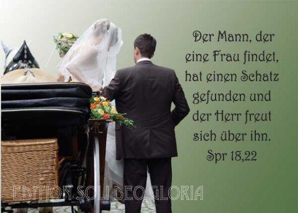 christliche Postkarte 69, christliche Hochzeitskarte ...
