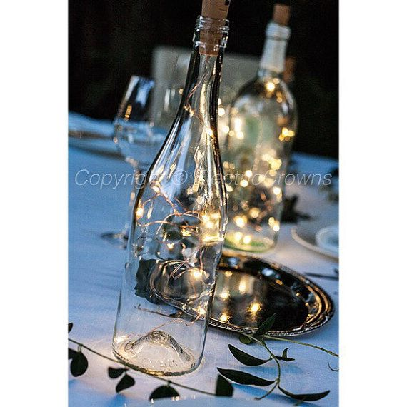 Decorative Wine Bottles Lights Inspiration Wine Bottle Centerpieces For Weddingsfairy Lights With Battery Inspiration