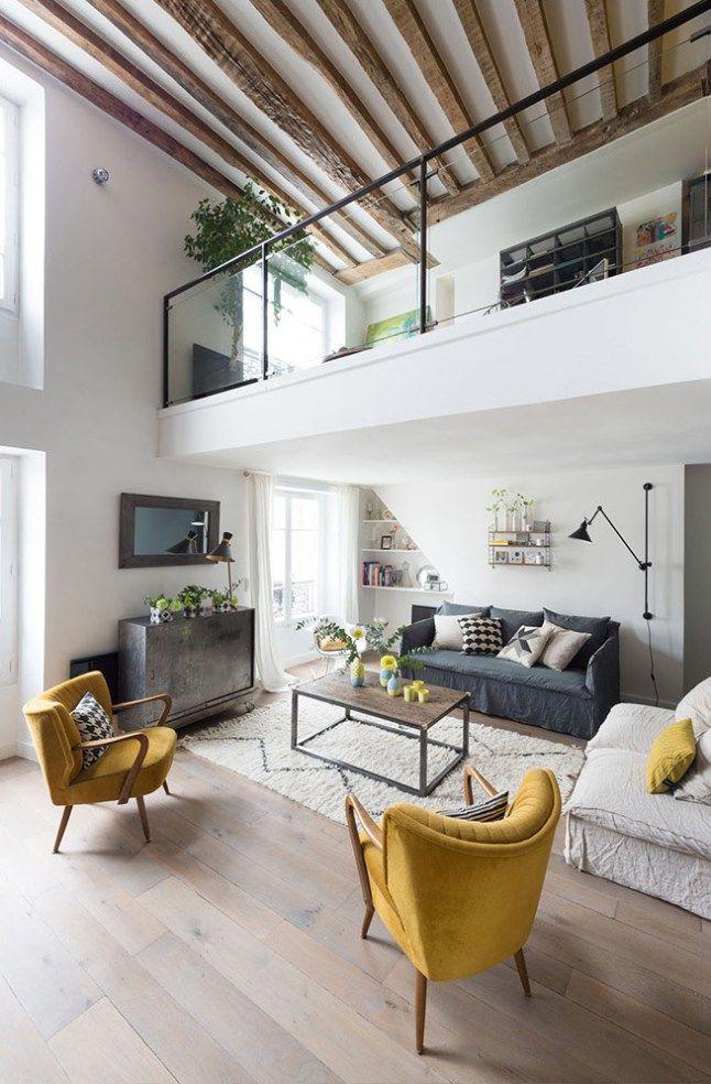 Un Appartement Parisien Sur Deux Niveaux   PLANETE DECO A Homes World