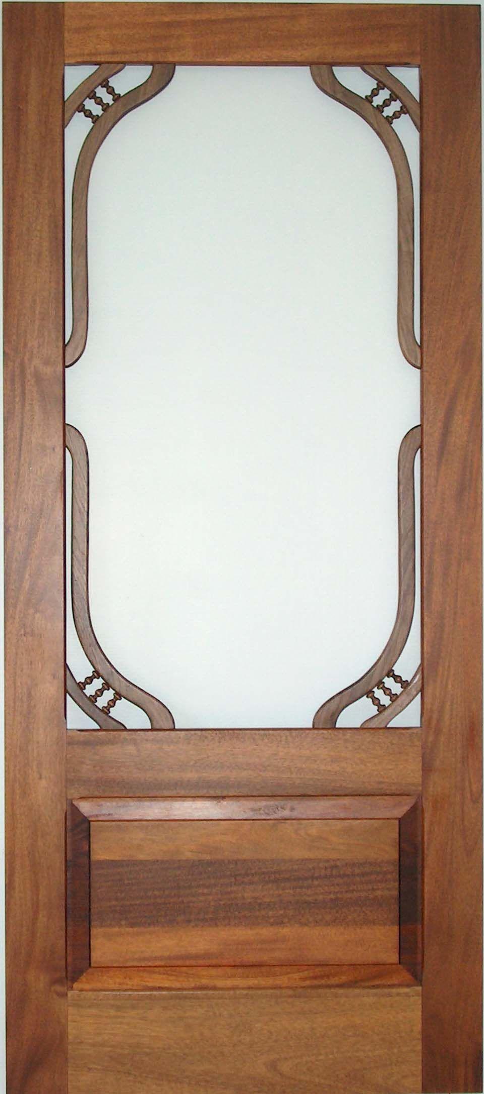Victorian screen storm door custom hammond model www for Decorative storm doors with screens