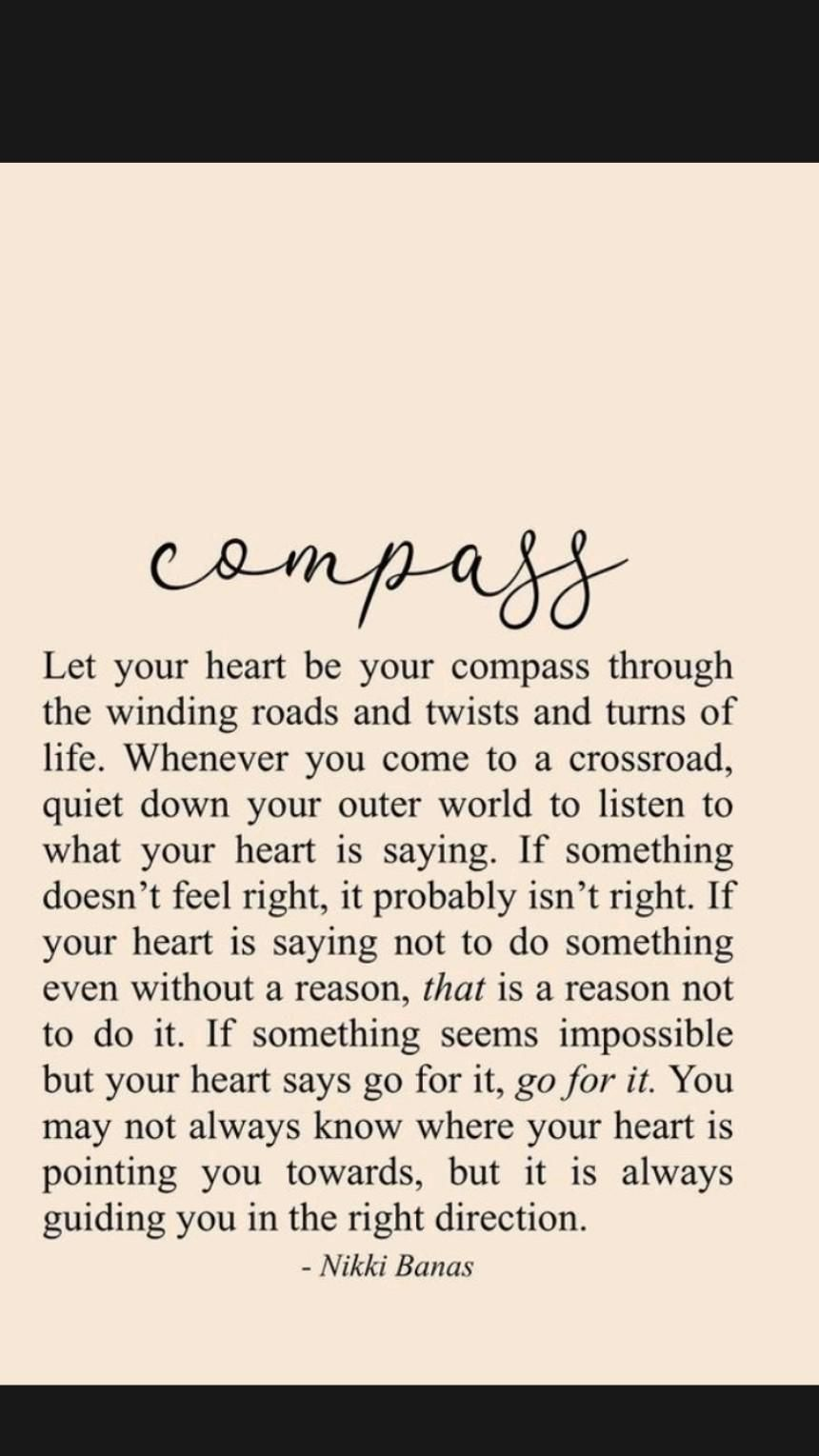 Be The Compass In Your Own Life. Own it! Claim it! Take it!Self Development