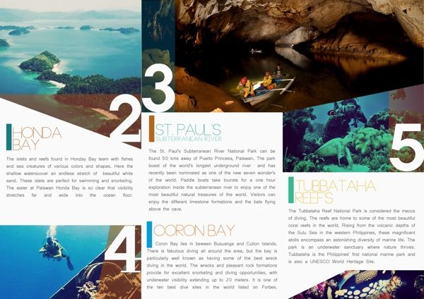 Travel Brochure By Kristina Bolante Via Behance  Walsworth