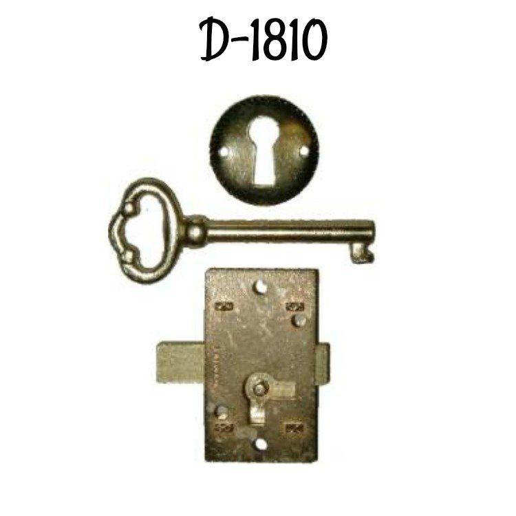 Economy Flush Mount Lock Set - Brass Plated | Types of