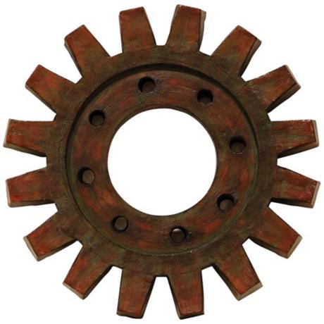 Train Gear 20 3 4 Round Industrial Wall Art This Appealing Train Gear Wall Ornament Is Composed Industrial Wall Art Industrial Wall Decor Outdoor Wall Art