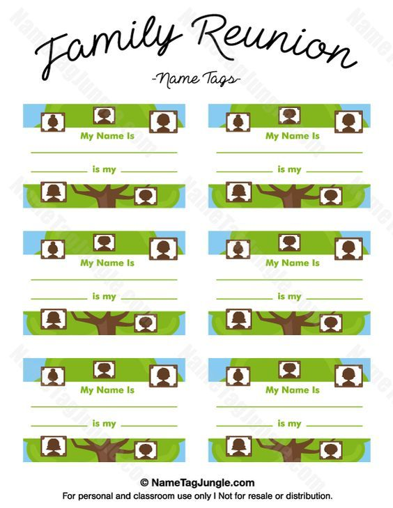 Free Printable Family Reunion Name Tags With Fields For Your Name - Family reunion templates