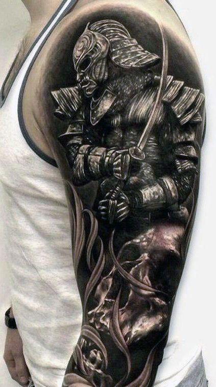 Tatuagem masculina de samurai no braço | Tatuagens ...